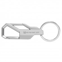 Honda Civic Si Silver Snap Hook Metal Key Chain