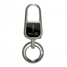 Lincoln MKS Black Snap Hook LED Light Metal Key Chain