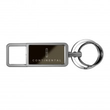Lincoln Continental Black Pull Top Rectangular Metal Key Chain