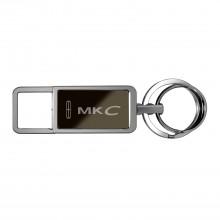 Lincoln MKC Black Pull Top Rectangular Metal Key Chain