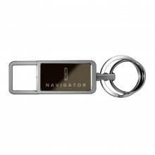 Lincoln Navigator Black Pull Top Rectangular Metal Key Chain