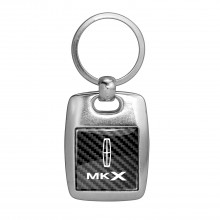 Lincoln MKX Carbon Fiber Backing Brush Metal Key Chain