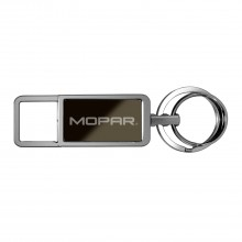 Mopar Black Pull Top Rectangular Metal Key Chain