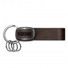 HEMI 426 in HEMI Black Nickel with Brown Leather Stripe Key Chain