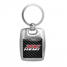 HEMI 392 HP Carbon Fiber Backing Brush Metal Key Chain