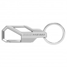HEMI 392 Silver Snap Hook Metal Key Chain