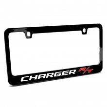 Dodge Charger R/T Black Metal License Plate Frame