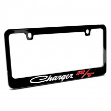 Dodge Charger R/T Classic Black Metal License Plate Frame