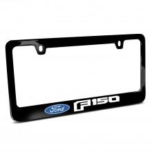 Ford F-150 2015 up Black Metal License Plate Frame