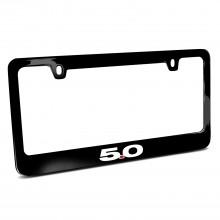 Ford Mustang 5.0 Black Metal License Plate Frame
