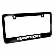 Ford F-150 Raptor Black Metal License Plate Frame