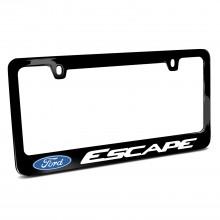 Ford Escape Black Metal License Plate Frame