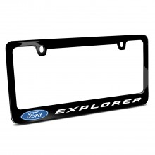 Ford Explorer Black Metal License Plate Frame