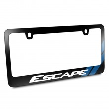 Ford Escape Blue Sports Stripe Black Metal License Plate Frame