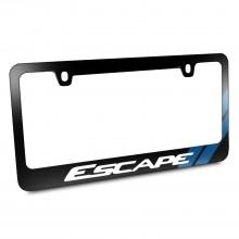 Ford Escape Blue Sports Stripe Black Metal License Plate Frame