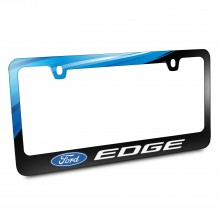 Ford Logo Edge Black Metal Graphic License Plate Frame