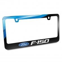 Ford Logo F-150 Black Metal Graphic License Plate Frame