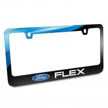 Ford Logo Flex Black Metal Graphic License Plate Frame