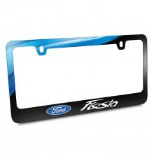 Ford Logo Fiesta Black Metal Graphic License Plate Frame