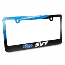Ford Logo SVT Black Metal Graphic License Plate Frame