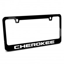 Jeep Cherokee Black Metal License Plate Frame