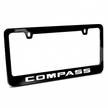 Jeep Compass Black Metal License Plate Frame