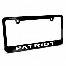 Jeep Patriot Black Metal License Plate Frame
