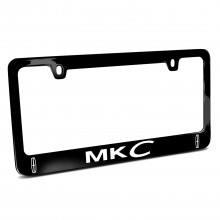 Lincoln MKC Dual Logo Black Metal License Plate Frame