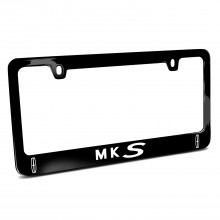 Lincoln MKS Dual Logo Black Metal License Plate Frame