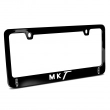 Lincoln MKT Dual Logo Black Metal License Plate Frame