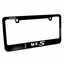 Lincoln MKS Black Metal License Plate Frame