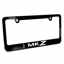 Lincoln MKZ Black Metal License Plate Frame