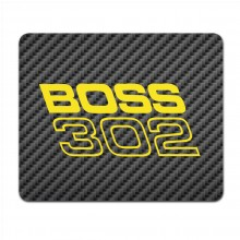 Ford Mustang Boss 302 in Yellow Black Carbon Fiber Texture Graphic PC Mouse Pad