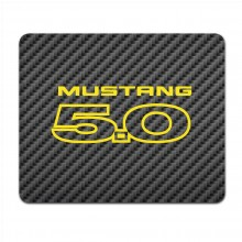 Ford Mustang 5.0 in Yellow Black Carbon Fiber Texture Graphic PC Mouse Pad