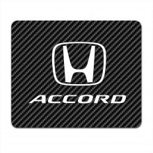 Honda Accord Black Carbon Fiber Texture Graphic PC Mouse Pad