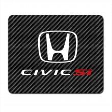 Honda Civic Si Black Carbon Fiber Texture Graphic PC Mouse Pad