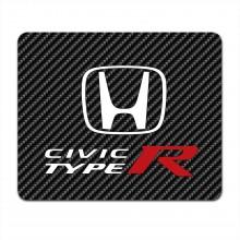 Honda Civic Type-R Black Carbon Fiber Texture Graphic PC Mouse Pad