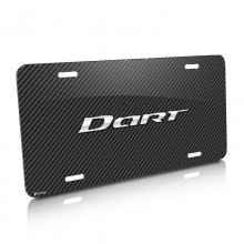 Dodge Dart Carbon Fiber Look Graphic Aluminum License Plate