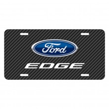 Ford Edge Black Carbon Fiber Texture Graphic UV Metal License Plate
