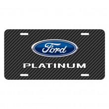 Ford F-150 Platinum Black Carbon Fiber Texture Graphic UV Metal License Plate