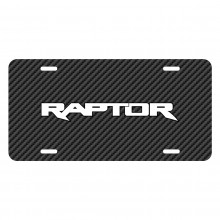 Ford F-150 Raptor 2017 Black Carbon Fiber Texture Graphic UV Metal License Plate