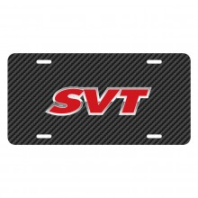Ford SVT Black Carbon Fiber Texture Graphic UV Metal License Plate