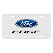 Ford Edge White Carbon Fiber Texture Graphic UV Metal License Plate