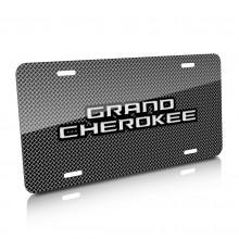 Jeep Grand Cherokee Mesh Grill Graphic Aluminum License Plate