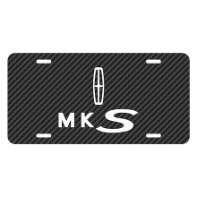 Lincoln MKS Black Carbon Fiber Texture Graphic UV Metal License Plate