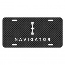 Lincoln Navigator Black Carbon Fiber Texture Graphic UV Metal License Plate
