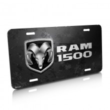 RAM 1500 Metal Look Graphic Aluminum License Plate