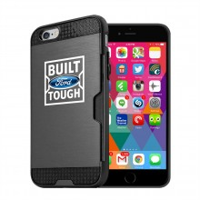 Ford Built Ford Tough iPhone 6 6s Ultra Thin TPU Black Phone Case with Credit Card Slot Wallet
