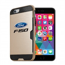 Ford F-150 iPhone 6 6s Ultra Thin TPU Golden Phone Case with Credit Card Slot Wallet