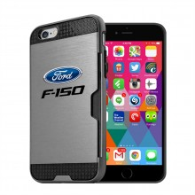 Ford F-150 iPhone 6 6s Ultra Thin TPU Silver Phone Case with Credit Card Slot Wallet